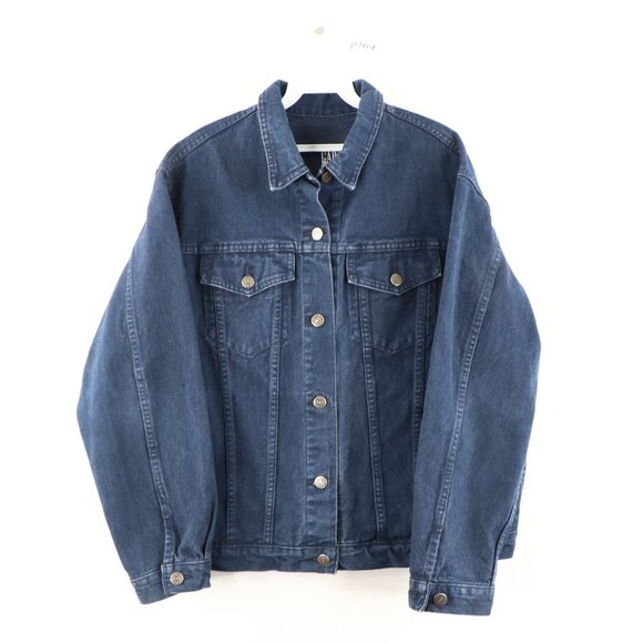 Vintage Gap Distressed Faded Denim Trucker Jacket